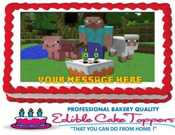 "MINECRAFT Custom Edible Cake Topper Edible Picture Edible Image ""All"