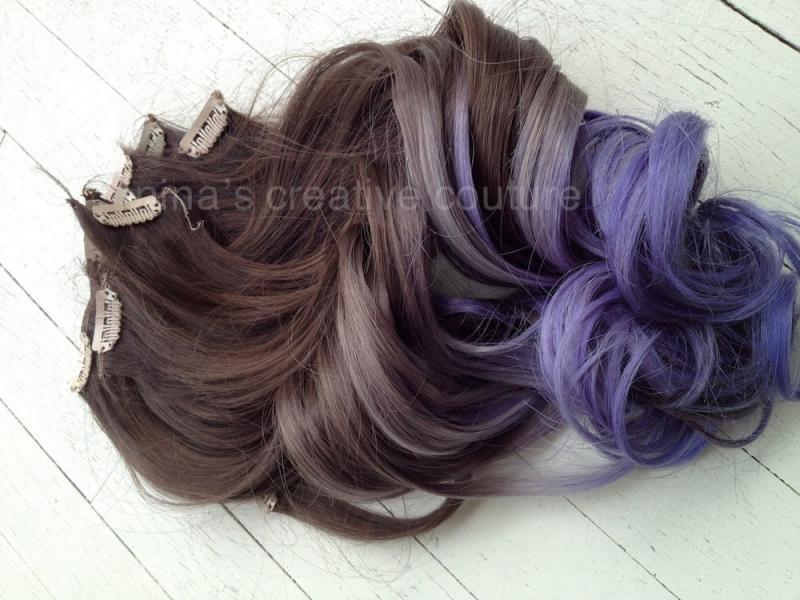 Purple Hair Extensions Amazon 40