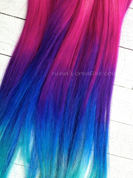 pink blue and purple ombre hair