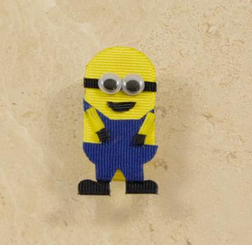 Despicable Me Minion-inspired hair bow clip
