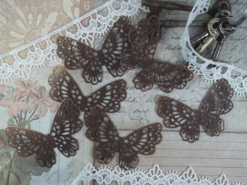 Copper Filigree Butterfly Embellishment (Item #091-C)