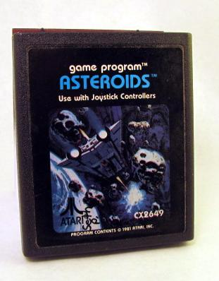 ASTEROIDS, journal, sketchbook, upcycled, atari 2600 game