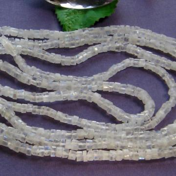 Rainbow Moonstone 4mm Heishi 15 Inch Strand