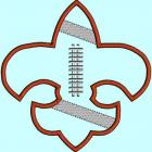 Applique Football Applique Fleur De Lis Sports Applique Embroidery Design Pattern