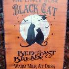 Cats Halloween signs decorations Primitive Black Cats Bed and Breakfast Witches Kitchen witch Sign props samhain wiccan welcome Witches Plaque