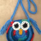 Crocheted Owl Purse