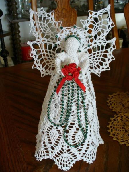 Free Crochet Patterns Christmas Tree Topper : Click to Enlarge Image