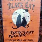 CATS Halloween Decorations Primitive Black Cats Bed And Breakfast Witches Sign Props Samhain witches wiccan welcome
