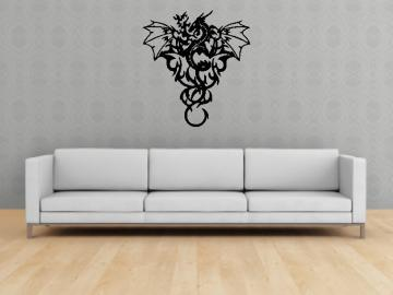 Wall Mural Decal Sticker Dragon Tribal Art Dragons