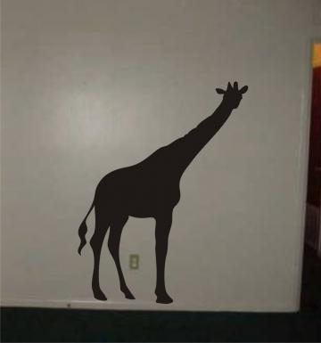 Giraffe Decal Sticker Wall animal safari boy girl