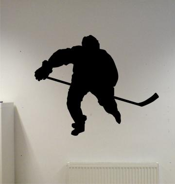 Hockey Player Decal Sticker Wall vinyl nhl sport c