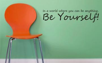 BE YOURSELF decal sticker wall nice children stick