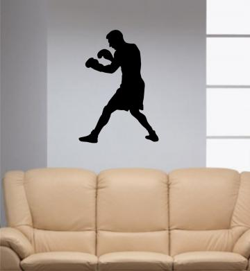 Boxer Decal Sticker Wall vinyl cool boxing sport n