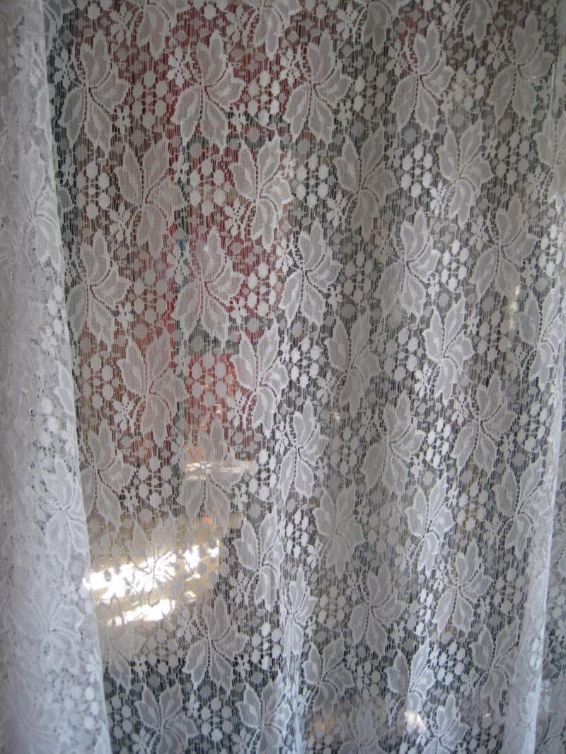Vintage White Lace Fabric - Viewing Gallery