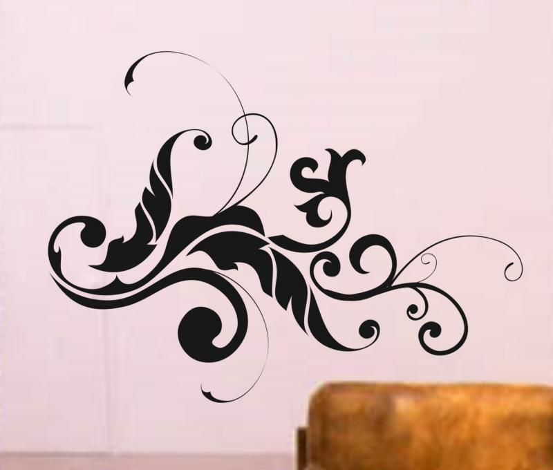 wonderful modern floral wall decals 800 x 680 38 kb jpeg