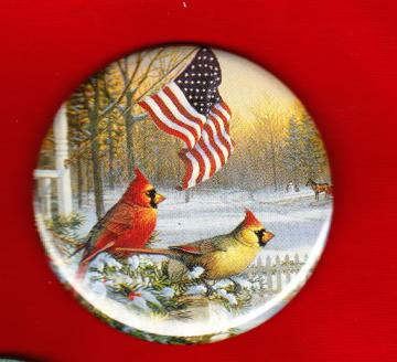 Cardinals in Winter  One of a Kind OOAK