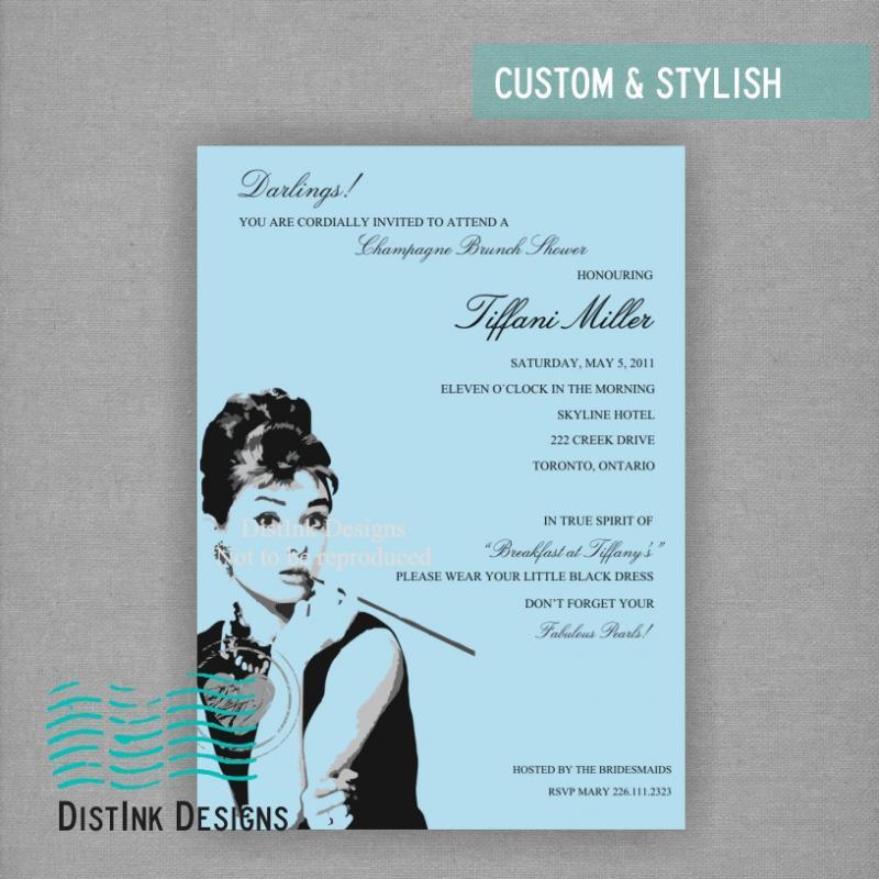 Breakfast at Tiffany's Inspired Bridal Shower Invitation - Digital ...