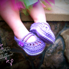 Cotton Baby 2 Strap Mary Janes - Lilac Mist