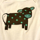 Moo Cow Appliqued Bodysuit or Tee