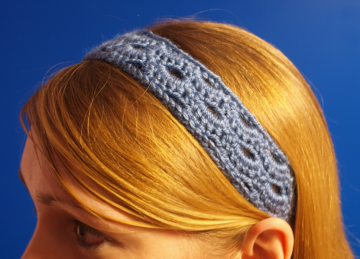 Soft Blue Lace Headband Wrap