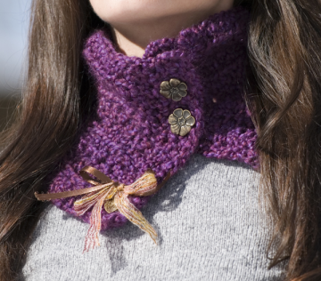 Ravelry: Crocheted Scarflette pattern by Connie Haney