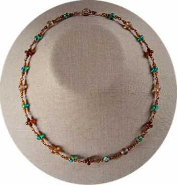 Blue Mocha Necklace