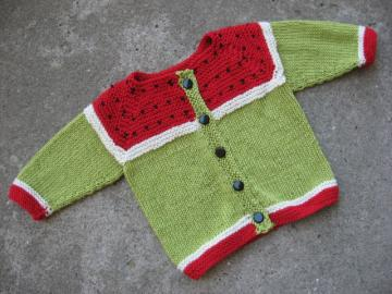 SALE baby Watermelon Sweater - size for 1 year old