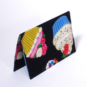 Business Card Case - Black Cupcake
