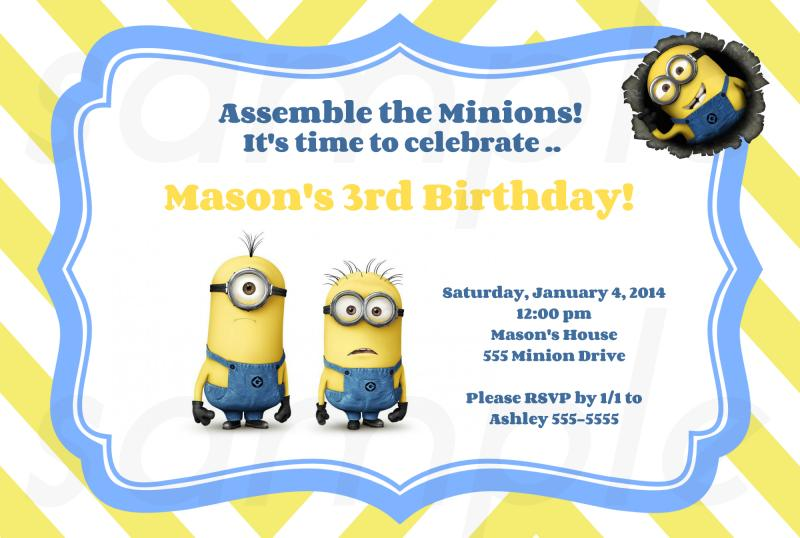 Minion Birthday Invitation is one of our best ideas you might choose for invitation design