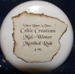 Celtic Creations Menthol Rub Organic and Healthy - Excellent for Flus and Colds