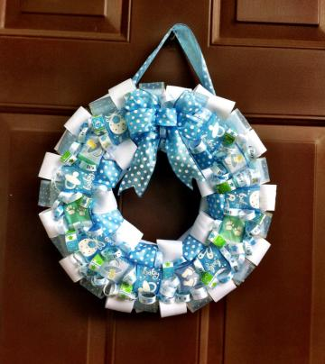Baby Wreath It's a Boy for Hospital Room Door or Nursery