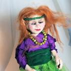 Red Headed Fairy Elf Queen - Polymer Clay Art Doll