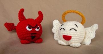 Angel and Devil Chubbies -  Crochet Pattern