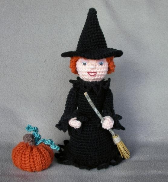 Bizzy Crochet: Fun  Funky Witch Costume-AG Dolls Pattern
