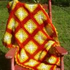 High Tea  Crochet Throw Blanket - PDF Pattern