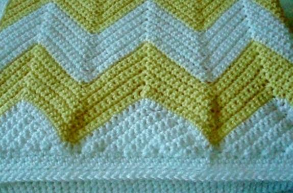 Crochet Pattern Chevron Baby Blanket : #