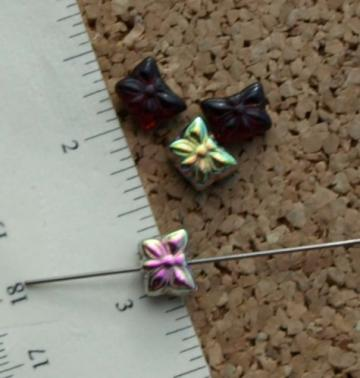 Butterfly Czech Glass Beads 9-2128