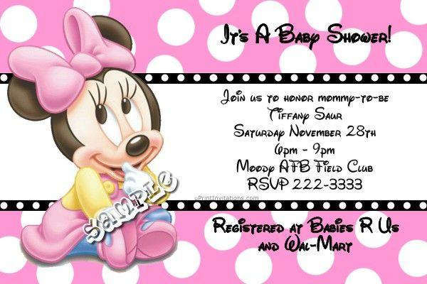 minnie mouse baby shower invitations all colors download jpg