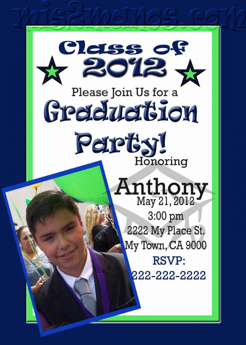Photo Graduation Invitation as perfect invitation sample