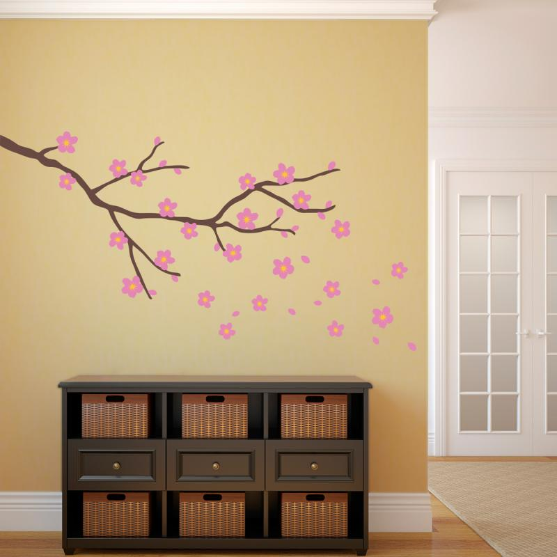 Wall art decals cherry blossom ~ Color the walls of your house