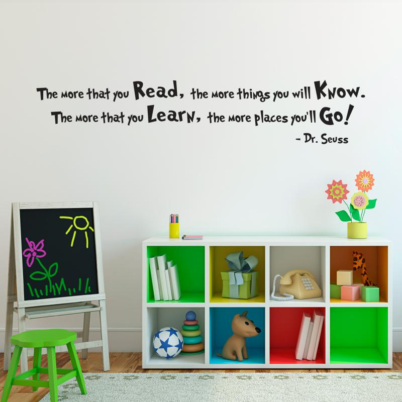 Dr seuss wall decals quotes quotesgram for Dr seuss wall mural