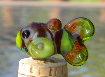 Fish lampwork focal bead