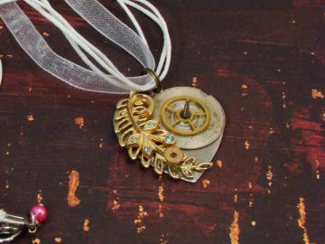 Steampunk Heart Necklace Upcycled Jewelry