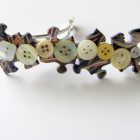 Jigsaw Puzzle Button Barrette