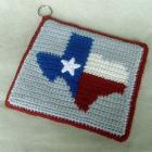 Texas Decorative Potholder -  Crochet Pattern with Color Chart