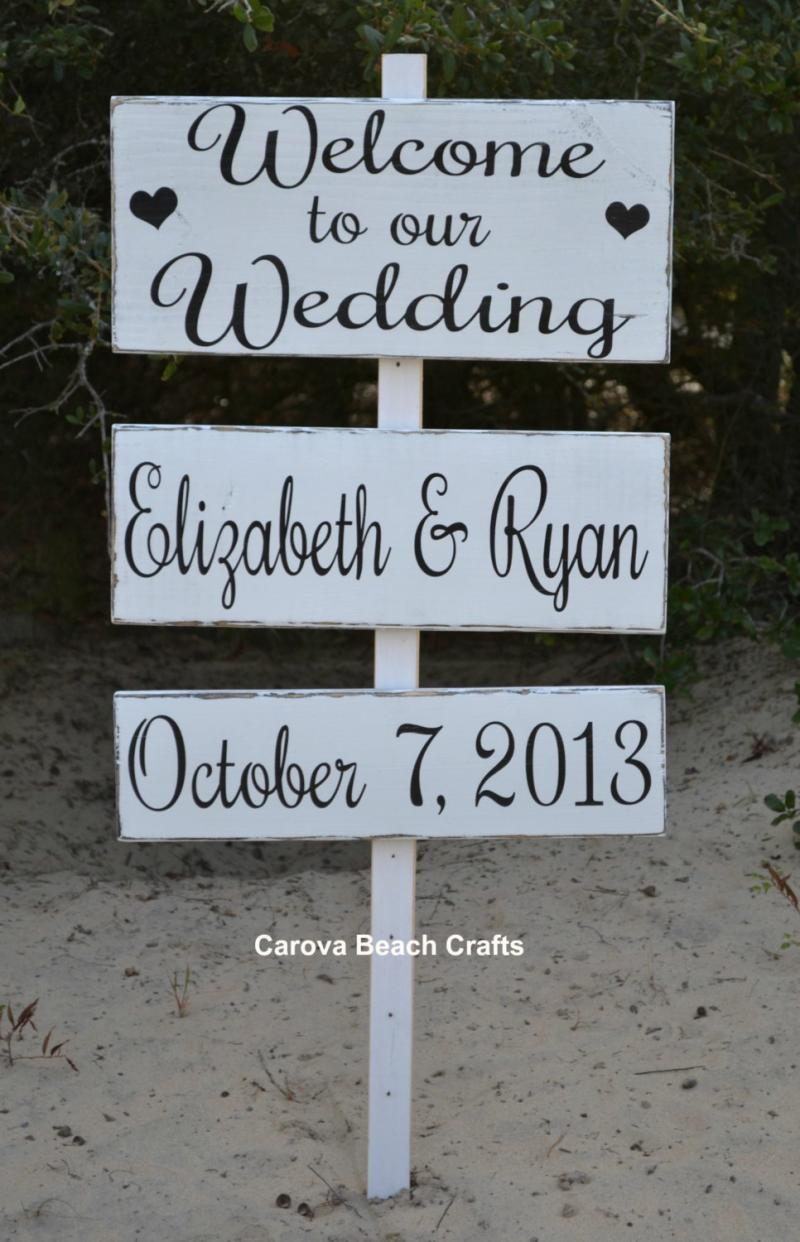 Wedding Sign Welcome Wedding Sign Wedding Decor Personalized Custom