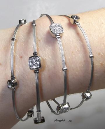 Whisper Bracelet Silver Square