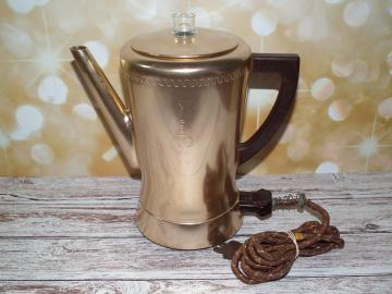 Vintage aluminum percolator West Bend flavo-matic coffee pot