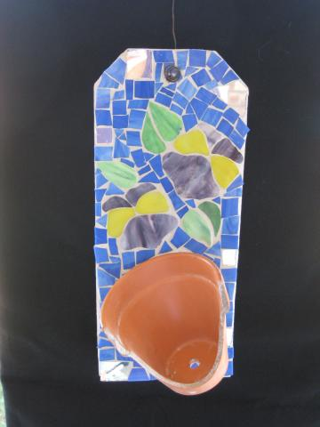 Unique Pansey Mosaic Wall Hanging ML-8