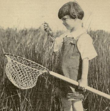 1927 Sweet Childhood Memories Rotogravure ~ Crabbing is Fun!